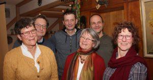Der Förderkreis Kreatives Eisenbach wählte ein neues Vorstandsteam: v.l. Joachim Hacker, Renate Sinnreich, Magnus Cordes-Schmid, Anngrit Hacker, Roland Hensler und Claudia Wehinger-Schöpperle.